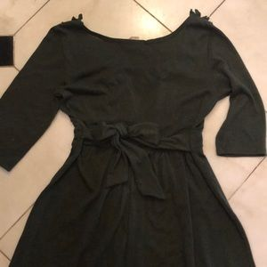 Dresses - Army green cotton dress